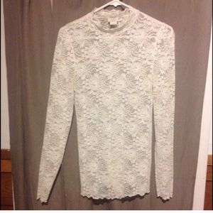 Free People Intimates Lace Shirt